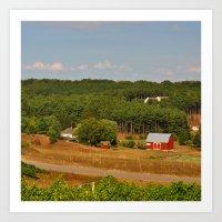 farm Art Prints featuring Farm by greenelent