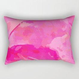 pink abstract floral pattern Rectangular Pillow