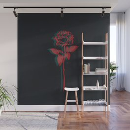 Glitchy Rose Wall Mural