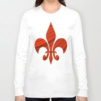 renaissance Long Sleeve T-shirts featuring Renaissance Red by Charma Rose