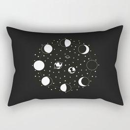 Wonder If - Moon Phase Illustration Rectangular Pillow