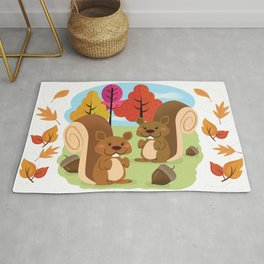 Let The Acorns Fall Rug