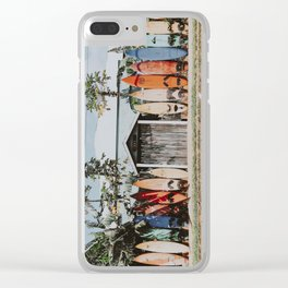 lets surf vi / maui, hawaii Clear iPhone Case