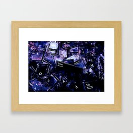 keyboard keys letters wsc80 Framed Art Print