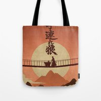 okami Tote Bags featuring Kozure Okami by WITHSTAND
