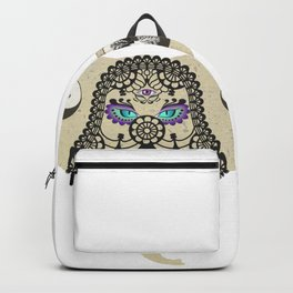 Hamsa Elephant Ying Yang Tree A403 Backpack