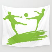soccer Wall Tapestries featuring Soccer Players by Emir Simsek