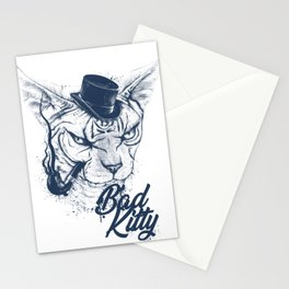 Angry sphinx cat with a tube - Bad Kitty Stationery Cards