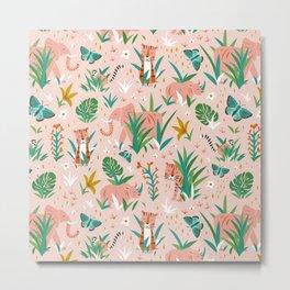 Endangered Wilderness - Blush Pink Metal Print