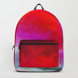 Abstract in Red, White and Purple Backpack