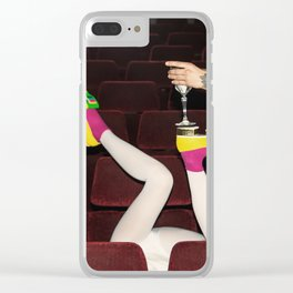 I enjoy going to the cinema. Taking a dress off. Closing my eyes. Watching the Dreamers. Clear iPhone Case