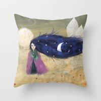 fairytale Throw Pillows featuring Fairytale by Huseyin Sonmezay