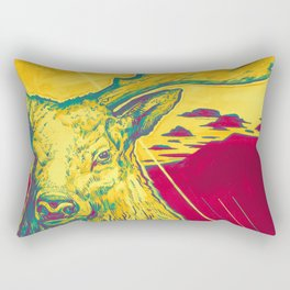 Stag Dimension of Yellow Rectangular Pillow