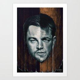 Leonardo DiCaprio & Matt Damon Portrait Art Print
