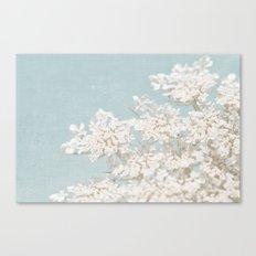 Pale Aqua: Dreaming of Spring Canvas Print