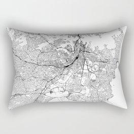 Sydney White Map Rectangular Pillow
