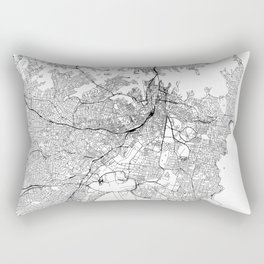 Sydney White Map Rectangular Pillow