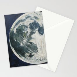 Moon Portrait 3 Stationery Cards