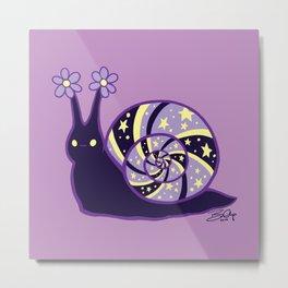 Madrugada Snail Metal Print
