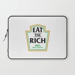 Eat The Rich Ketchup Label Laptop Sleeve