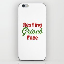 Resting Grinch Face - Christmas Xmas festive design iPhone Skin