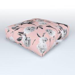 Peonies Mono Blush Outdoor Floor Cushion
