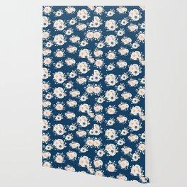 Dog Rose Pattern Wallpaper