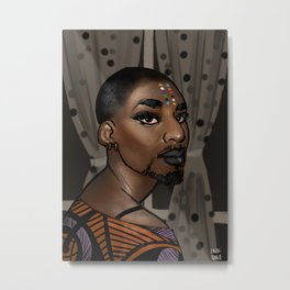 Afropunk falcons are in Metal Print