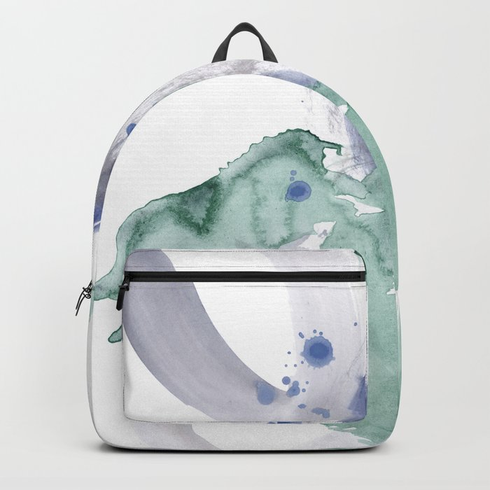 pastel on white Backpack