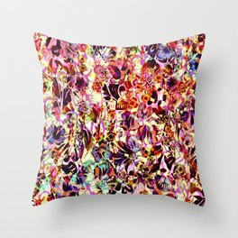 joyful abstract floral Throw Pillow