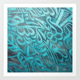 blue Rapping Art Print