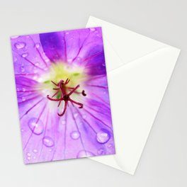 Geranium 'Rozanne' after the rain Stationery Cards