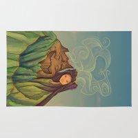 hallion Area & Throw Rugs featuring Volcano Love by Karen Hallion Illustrations