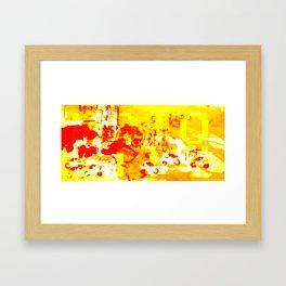 MOTO CITY Framed Art Print