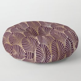 Geometric vintage metallic purple background Floor Pillow