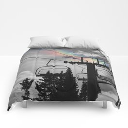 4 Seat Chair Lift Rainbow Sky B&W Comforters