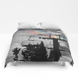 4 Seat Chair Lift Rainbow Sky B&W Comforters