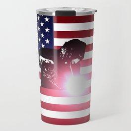 Welding: Welder & American Flag Travel Mug