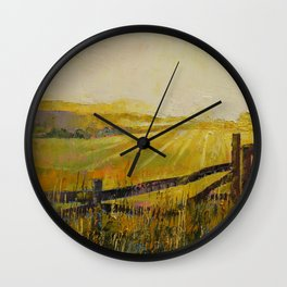 Country Meadow Wall Clock