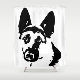 ALSATIAN AND GERMAN SHEPHERD DOG LOVER Shower Curtain