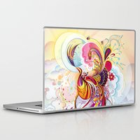 phoenix Laptop & iPad Skins featuring Phoenix by Nick La