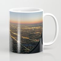 jfk Mugs featuring the approach by inourgardentoo