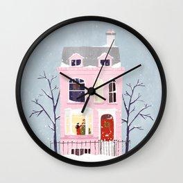 Xmas house Wall Clock