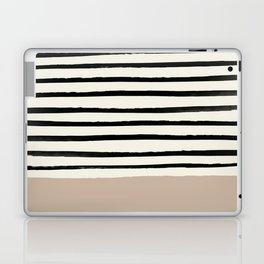 Latte & Stripes Laptop & iPad Skin