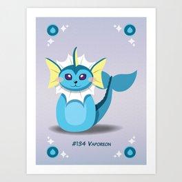 Evolution Bobbles - Vaporeon Art Print
