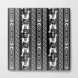 Llamas Metal Print
