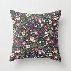 Little Birds Throw Pillow