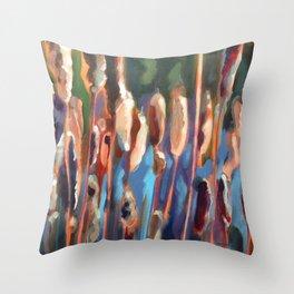 Bullrushes Throw Pillow
