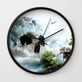 Cloudy Path Wall Clock