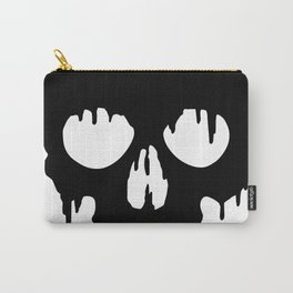 Black Skull dripping Carry-All Pouch
